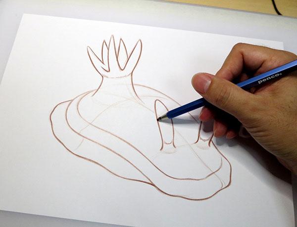 ウミウシ下描き